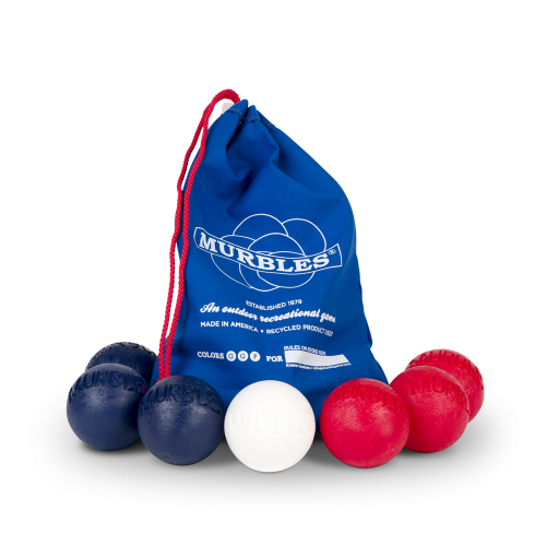 Murbles 2 Player 7 Ball Tournament Set Blue Bag